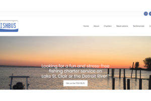 fishbus charters website design